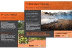 Kuirau Park, Rotorua informational signage